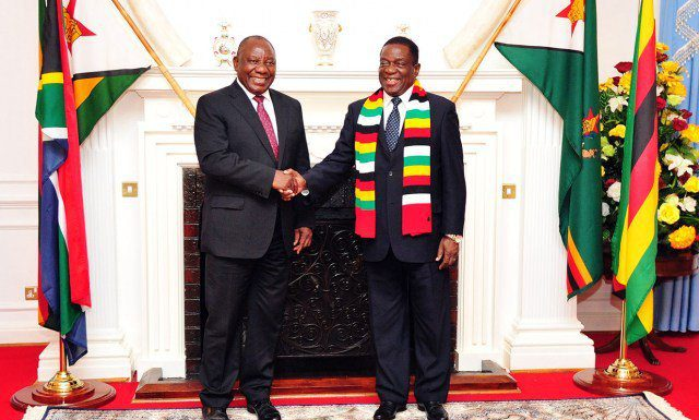 Cyril Ramaphosa Emmerson Mnangagwa Zimbabwe