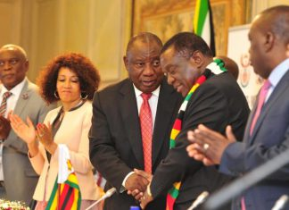 cyril ramaphosa Emmerson Mnangagwa